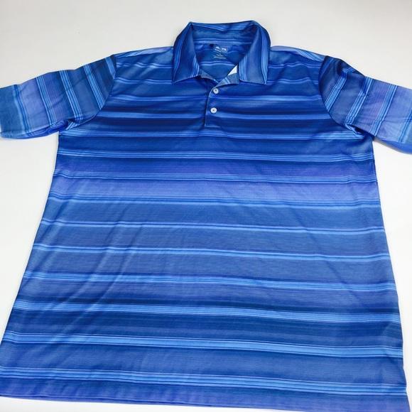 Adidas Golf POLO CAMISAS ClimaCool hombre  XL poshmark rayas azul